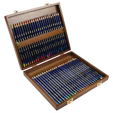 Derwent Inktense Coloured Pencils Wooden Box of 48