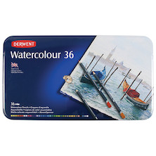 Derwent Watercolour Pencils Tin of 36