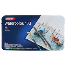 Derwent Watercolour Pencils Tin of 72
