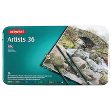 Derwent Artists Coloured Pencils Tin of 36