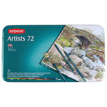 Derwent Artists Coloured Pencils Tin of 72