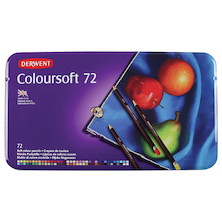 Derwent Coloursoft Coloured Pencil Tin of 72