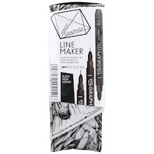 Derwent Graphik Line Maker Black Set of 3