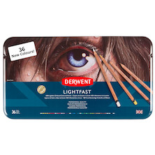 Derwent Lightfast Coloured Pencils Set 2 Tin of 36