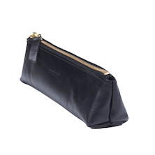 Derwent Leather Pencil Case Black