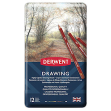 Derwent Drawing Pencil Tin of 12