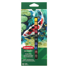 Derwent Academy Acrylic Paints Set of 12 Assorted