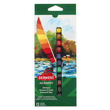 Derwent Academy Oil Paints Set of 12 Assorted