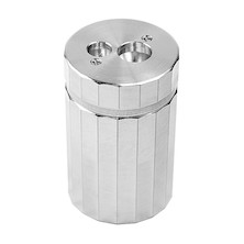 DUX Double Hole Aluminium Canister Pencil Sharpener