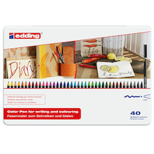 edding 1300 Colourpen Assorted Tin of 40