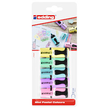 edding 7 Mini Highlighter Pastel Assorted Set of 5