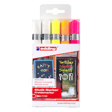 edding 4095 Chalk Marker Assorted Set of 5
