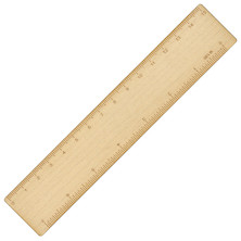 e+m Pico Maple Wood 15cm Ruler