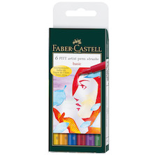 Faber-Castell Pitt Artist Brush Pen Set of 6