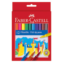 Faber-Castell Fibre-Tip Colouring Pens Set of 12