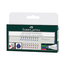 Faber-Castell Grip Marker Whiteboard Bullet Tip Wallet of 4
