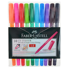 Faber-Castell CX Colour Ballpoint Pen Set of 10