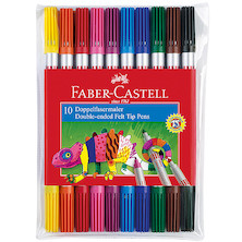 Faber-Castell Double-Ended Fibre-Tip Colouring Pens