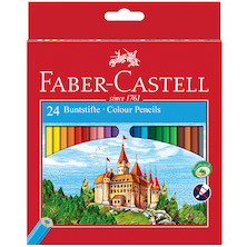 Faber-Castell Eco Colouring Pencils Box of 24