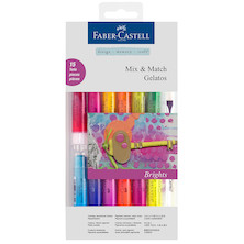 Faber-Castell Gelatos Colour Crayon Bright Colours Set of 12 + Accessories