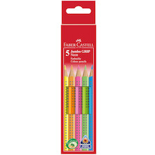 Faber-Castell Jumbo Grip Neon Colouring Pencils Set of 5