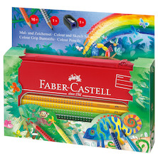 Faber-Castell Colour Grip Jungle Colouring Set