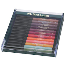 Faber-Castell Pitt Artist Brush Pen Set of 12