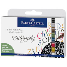 Faber-Castell Pitt Artist Pen Calligraphy Set of 8 Assorted