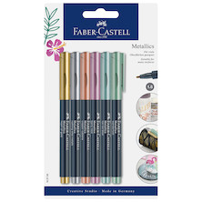 Faber-Castell Metallic Marker Set of 6 Assorted