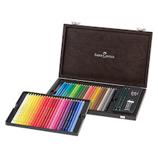 Faber-Castell Polychromos Pencils Wooden Case of 48