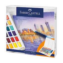 Faber-Castell Creative Studio Watercolour Pan Set of 48