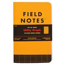 Field Notes Utility Pocket Notebook Limited Edition Set of 3
