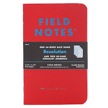 Field Notes Resolution Checklist and Date Books Limited Edition Set of 3