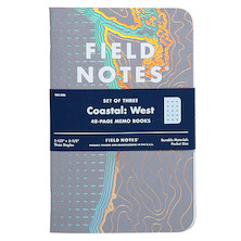 Field Notes Coastal Pocket Notebook Limited Edition Set of 3