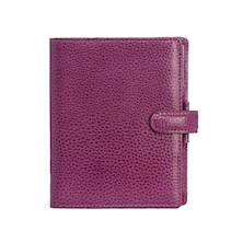 Filofax Finsbury Personal Organiser Leather Pocket Raspberry