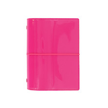 Filofax Domino Pocket Organiser Patent Hot Pink