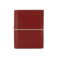Filofax Domino Pocket Organiser Red