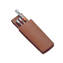 Graf von Faber-Castell Two-Part Leather Pen Case for Three Pens