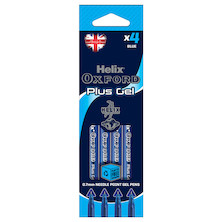 Helix Oxford Plus Gel Pen Set of 4 Blue