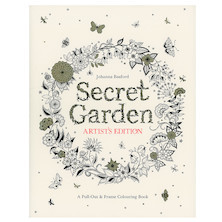 Johanna Basford Secret Garden Pull-Out and Frame Artists Edition Colouring Book