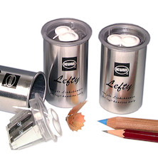 KUM Left-Handed Aluminium Canister Double Sharpener