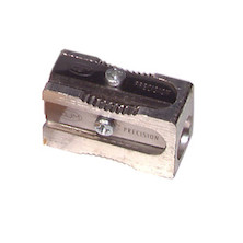 KUM Magnesium Block Single Hole Sharpener with 2 Spare Blades 400-1E