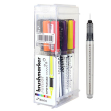 Karin Brushmarker Junior Set of 11 Basic Colours + 1 Blender