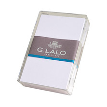 G Lalo Verge de France Box of Plain White Cards 80x128