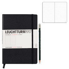 Leuchtturm1917 Medium Hardcover Notebook Black