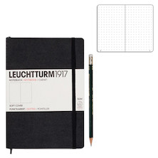 Leuchtturm1917 Softcover Medium Notebook Black