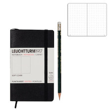 Leuchtturm1917 Softcover Pocket Notebook Black