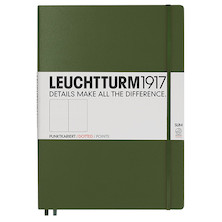 Leuchtturm1917 Hardcover Notebook Master Slim Army