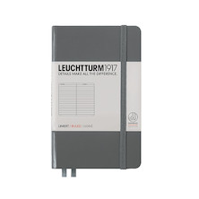 Leuchtturm1917 Hardcover Notebook Pocket Anthracite