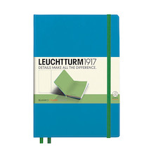 Leuchtturm1917 Hardcover Notebook Medium BiColore Azure-Lime